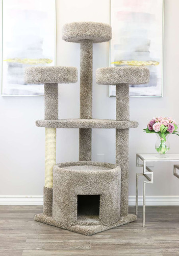 Prestige Cat Trees Main Coon Cat House in Neutral Color-Cat House and Cat Tower for Extra Large Cats like a Main Coon
