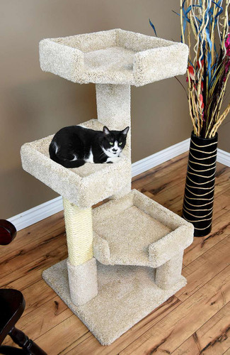 "New Cat Condos 45"" Solid Wood Cat Tree"