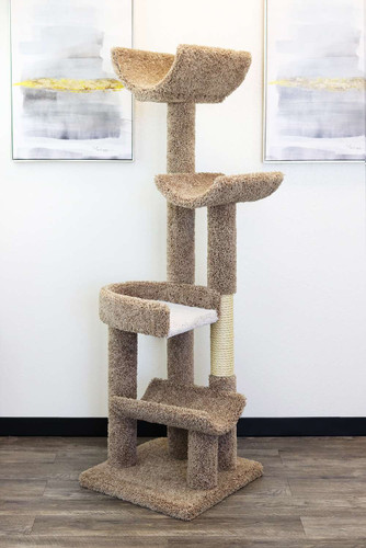 New Cat Condos Staggered Cat Tree-Brown