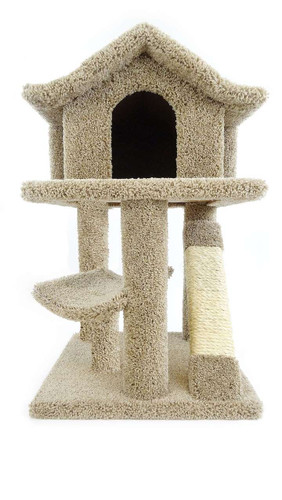 Premier Mini Cat Pagoda House-Brown