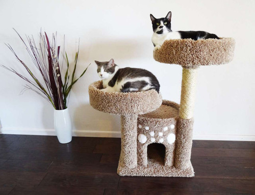 Premier Double Perch Solid Wood Cat Condo