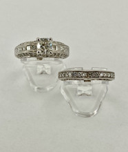 18 karat Heart Shaped Wedding Set