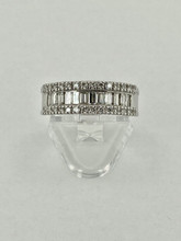 14 karat Round & Baguette Diamond Band