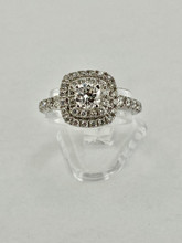 14 karat Double Halo Engagement Ring Setting