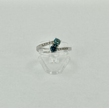 14 karat Blue Diamond Ring