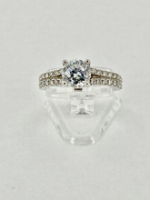 14 karat Two Band Engagement Ring