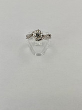 14 karat Twisted Solitaire Engagement Ring