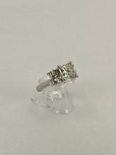 Platinum Baguette Engagement Ring Setting