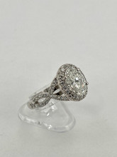 14 karat Oval Shaped Engagement Ring Setting