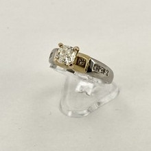 Platinum and Yellow Gold Engagement Ring Setting