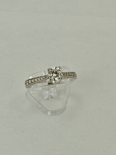 14 karat White Gold Tiffany Engagement Ring
