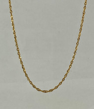 18kt Yellow Gold 16 inch chain