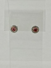 0.92ctw Pink Diamond Earrings
