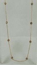 0.22ctw Yellow Gold Diamond Necklace