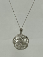 2.03ctw Baguettes and Round Diamonds Necklace