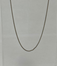14 karat White Gold Spiga Wheat Chain