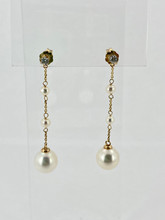 Seed and Fresh Water Pearl Earrings