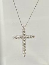 1.59ctw Diamond Cross Pendant