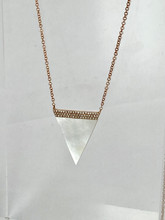 2.06ct Trillion Cut Mother of Pearl Necklace