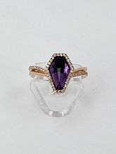 1.60ct Amethyst Rose Gold Ring