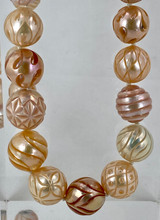 Peach Carved Pearl Necklace