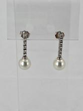 Pearl and 0.50ctw Diamond Earrings