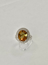 Lusterine Color Changing Stone Ring with White Sapphire