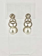 South Sea Pearls and Diamond Earrings
