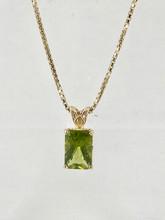 4.68ct Emerald Cut Peridot Pendant