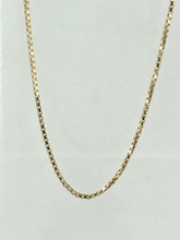 14 Karat Yellow Gold Box Chain
