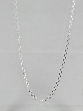 Sterling Silver Diamond Cut Cable Chain