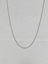 14 Karat White Gold Cable chain