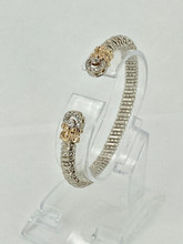 VAHAN 0.14ctw Silver and Gold Bracelet