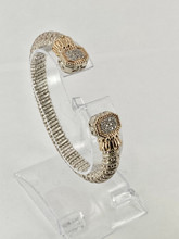 VAHAN 0.24ctw Silver and Gold Bracelet