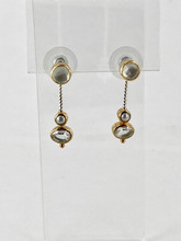 Mother of Pearl, Pearl and Quartz Earrings