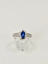 0.97ct Oval Sapphire with Diamonds Ring