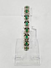 4.43ctw Emerald Bracelet with Diamonds
