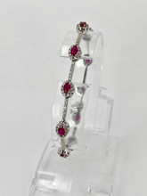 3.00ctw Oval Ruby Bracelet with Diamonds