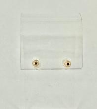 14 Karat Yellow Gold Ball Earrings