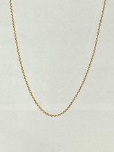 14 Karat Adjustable Diamond Cut Wheat Chain