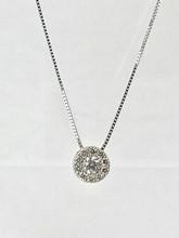14 Karat White Gold Pendant with 0.95ctw Diamonds