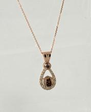 Rose Gold Chocolate Diamonds and Diamonds Pendant
