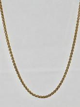 14 Karat Yellow Gold Spiga Wheat Chain