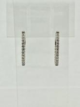 1.00ctw Round Medium Diamond Hoops