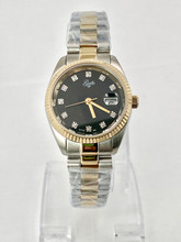 GUILLE Ladies Two-Tone Diamond Dial Watch