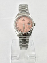 GUILLE Ladies Pink Dial Watch