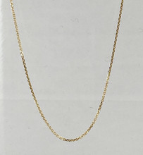 14 Karat Diamond Cut Cable Link Chain