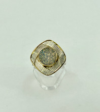 MICHOU Sterling Silver Ring with Aurora Druzy