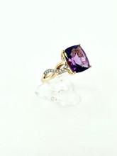 14 Karat 4.02ctw Amethyst Ring with Diamonds