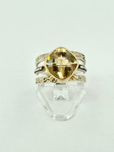 MICHOU Sterling Silver Ring with Citrine